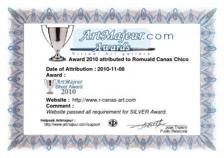 Artmajeur Sylver Award 2010