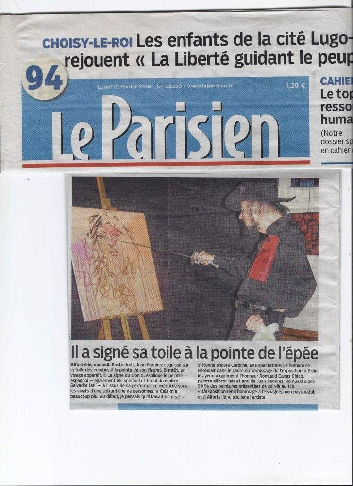 Article Le Parisien février 2016